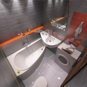 Компактная сантехника в маленькой ванной