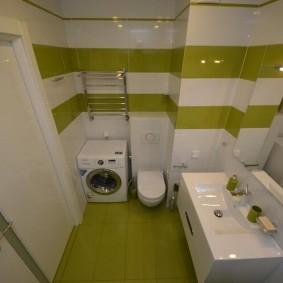 Зеленая плитка в дизайне ванной комнаты