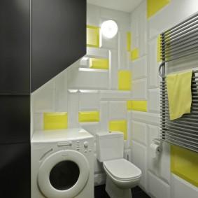 Объемные панели на стене ванной комнаты