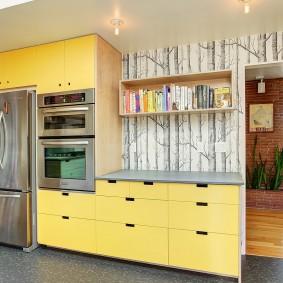 фотообои в интерьере кухни фото