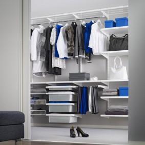 сетчатые гардеробные системы дизайн идеи