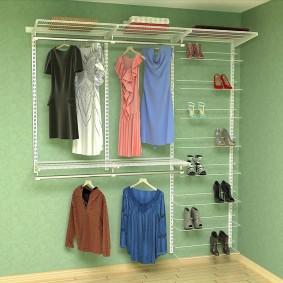 сетчатые гардеробные системы фото