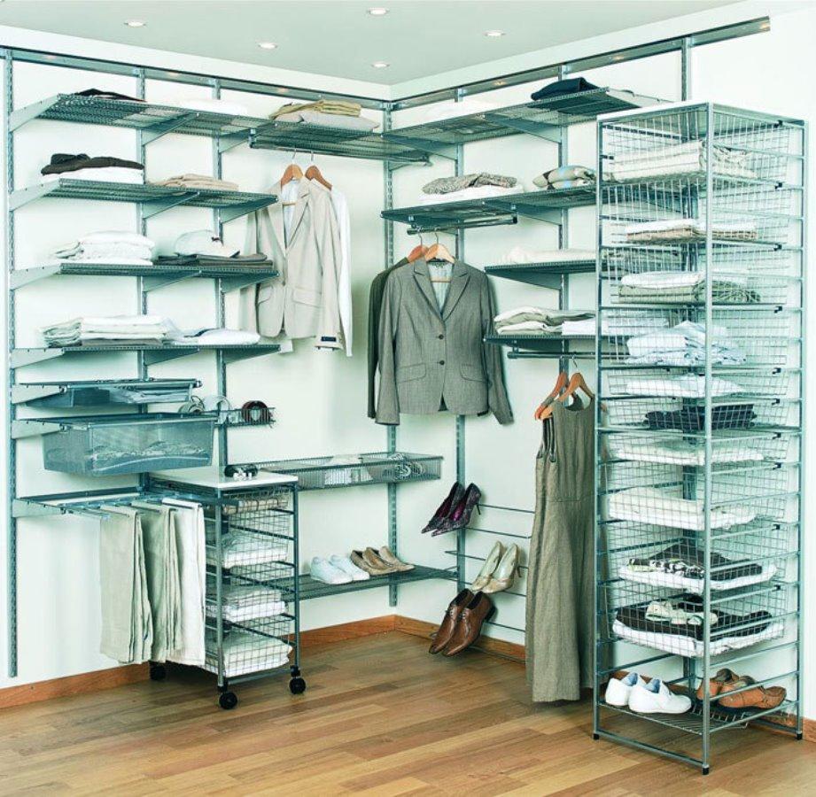 сетчатые гардеробные системы фото дизайна