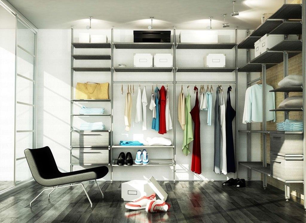 сетчатые гардеробные системы фото идеи