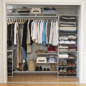 сетчатые гардеробные системы идеи дизайн