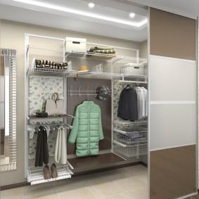 сетчатые гардеробные системы идеи дизайна