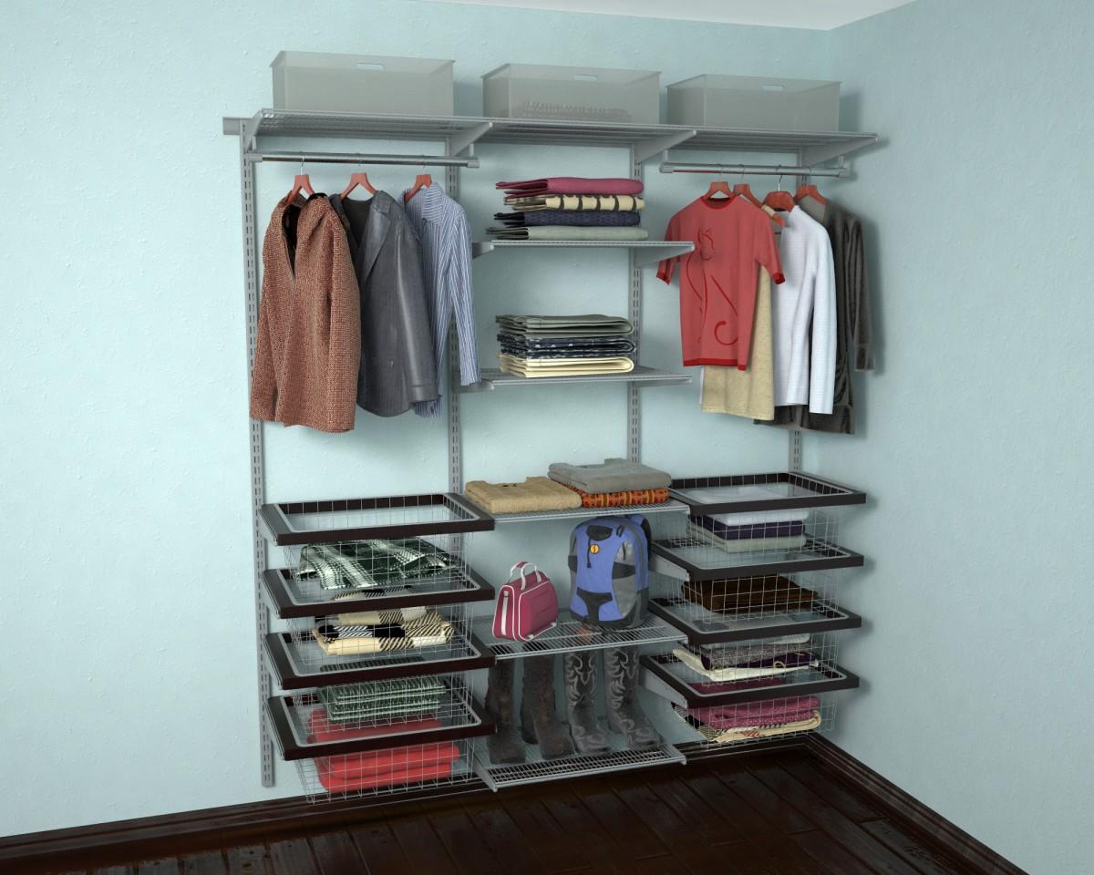 сетчатые гардеробные системы идеи фото