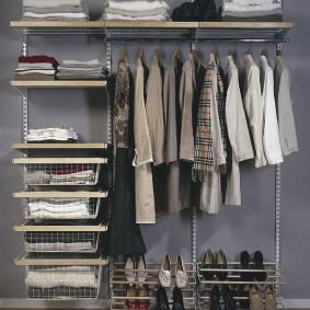 гардеробные сетчатые системы оформление фото