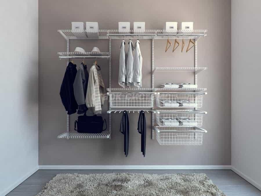 сетчатые гардеробные системы оформление