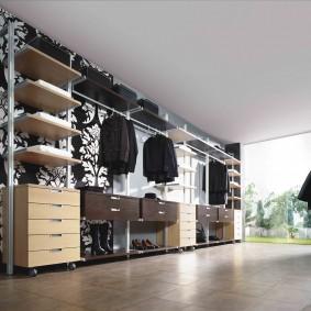гардеробные системы в интерьере фото дизайн