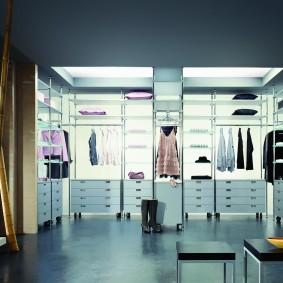 гардеробные системы в интерьере декор идеи
