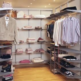 гардеробные системы в интерьере оформление
