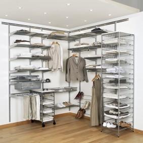 гардеробные системы в интерьере фото