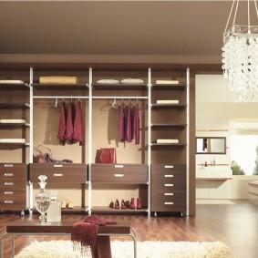 гардеробные системы в интерьере варианты