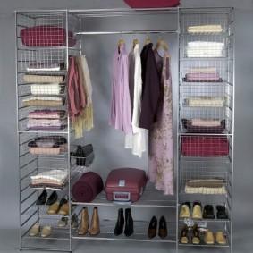 гардеробные системы в интерьере виды фото