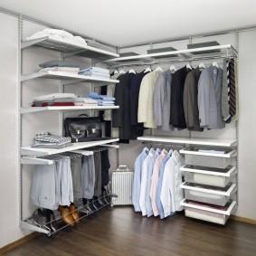 гардеробные системы в интерьере фото виды