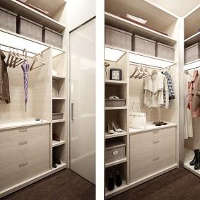 гардеробные системы в интерьере идеи фото