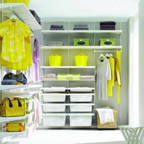 гардеробные системы в интерьере варианты декора