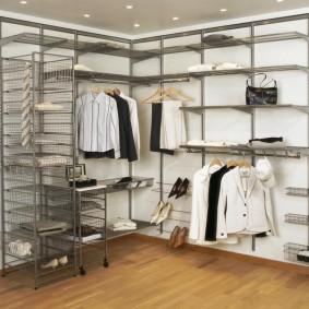 гардеробные системы в интерьере варианты оформления