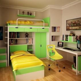 гарнитур в детской комнате декор фото