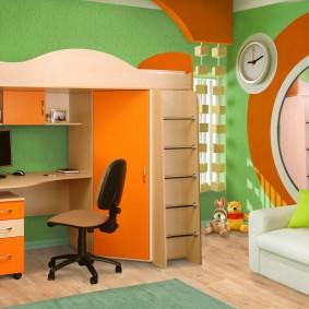 гарнитур в детской комнате фото декора