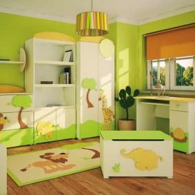 гарнитур в детской комнате идеи декор