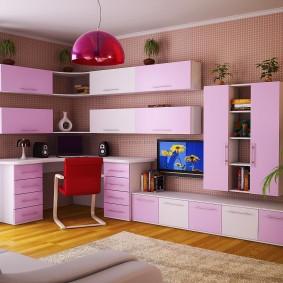 гарнитур в детской комнате интерьер