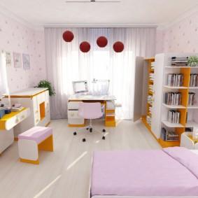 гарнитур в детской комнате интерьер фото