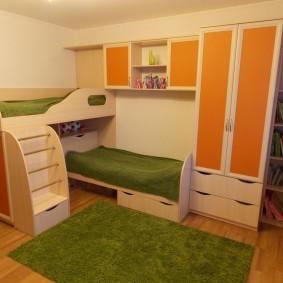 гарнитур в детской комнате фото интерьера