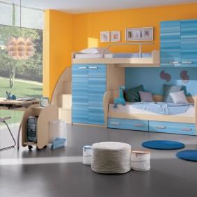 гарнитур в детской комнате интерьер идеи