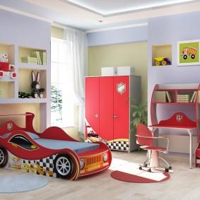 гарнитур в детской комнате оформление
