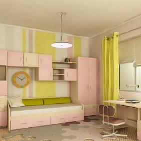 гарнитур в детской комнате дизайн фото