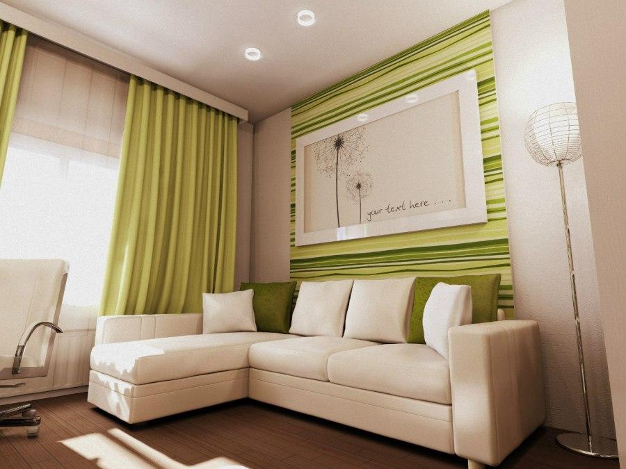 бело зеленая гостиная фото них