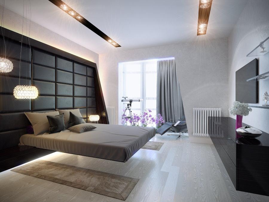 Оформление спальни мужчины в стиле хай-тек