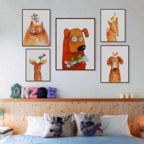 картины для детской комнаты идеи дизайна