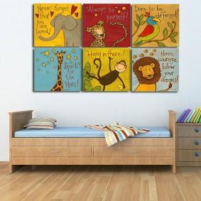 картины для детской комнаты декор