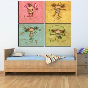 картины для детской комнаты фото декора