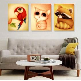 картины для детской комнаты интерьер