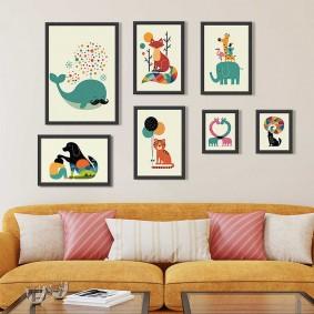 картины для детской комнаты фото интерьера