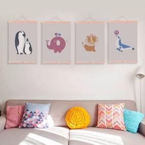 картины для детской комнаты интерьер идеи