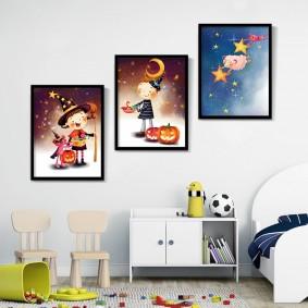 картины для детской комнаты идеи интерьера
