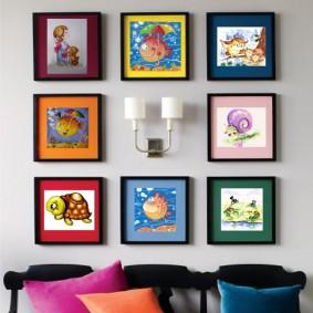 картины для детской комнаты оформление фото