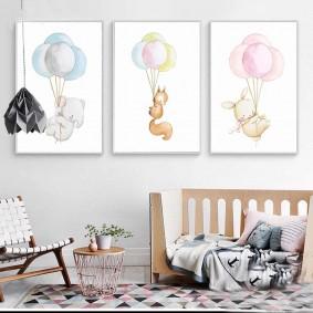 картины для детской комнаты идеи оформления