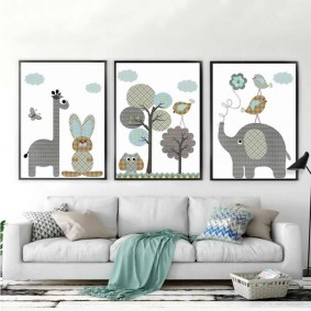 картины для детской комнаты фото вариантов