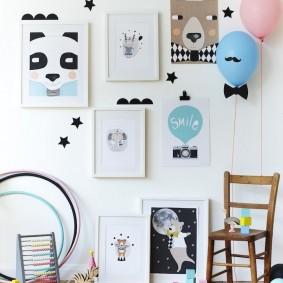 картины для детской комнаты варианты идеи