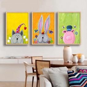 картины для детской комнаты идеи варианты