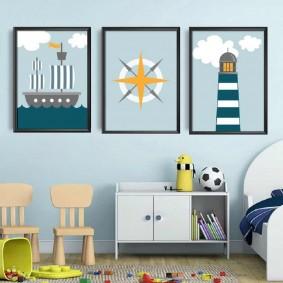 картины для детской комнаты идеи вариантов