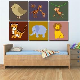 картины для детской комнаты фото идеи