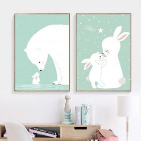 картины для детской комнаты фото виды