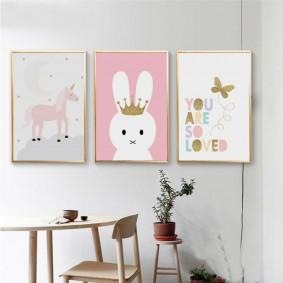 картины для детской комнаты фото видов